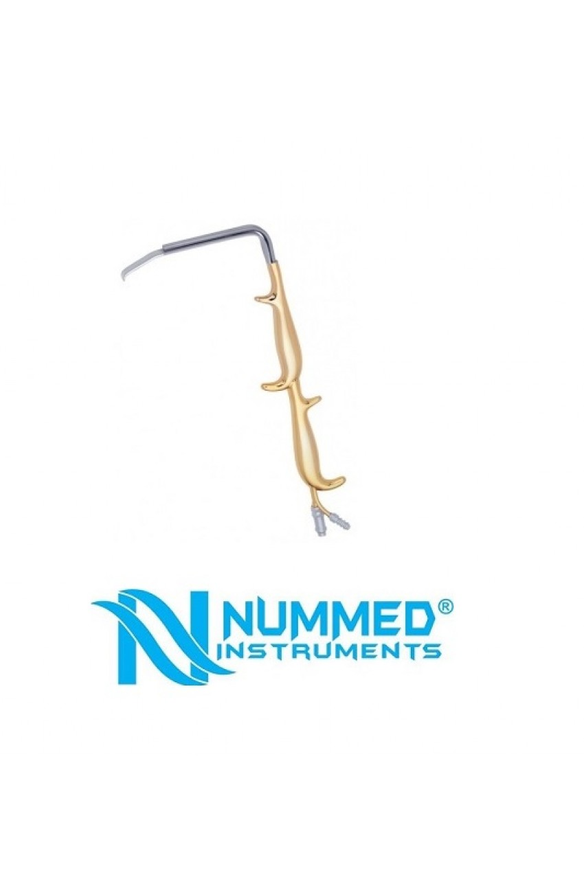 Tebbetts Breast Augmentation Fiber Optic Retractor, With Double Handle and Smooth End