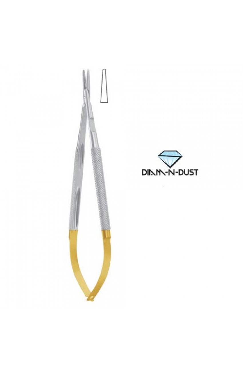 Diamond Dust Micro Needle Holder, Round Handle Without Lock