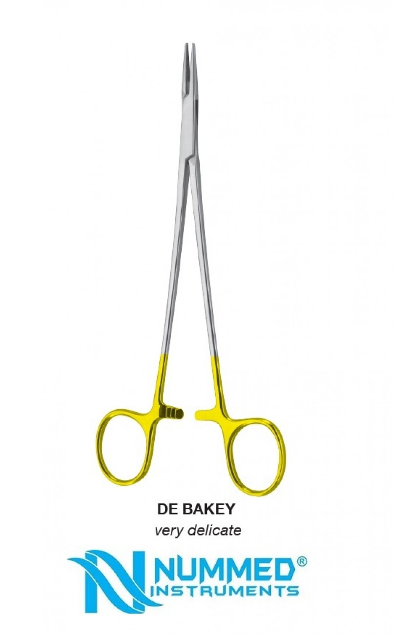 De Bakey Needle Holder,Very Delicate,TC