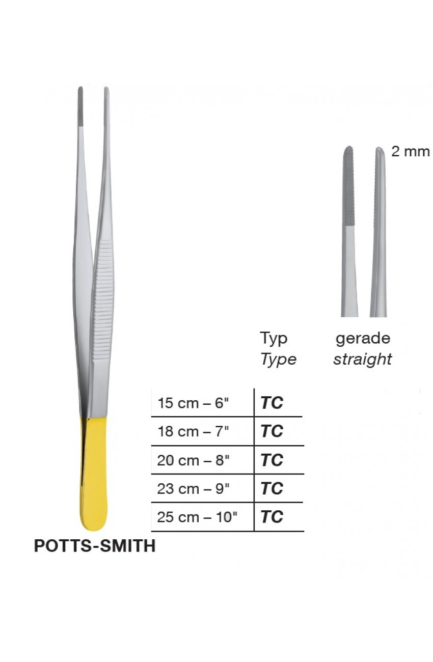 T/C Potts-Smith Delicate Dissecting Forceps , 2 mm
